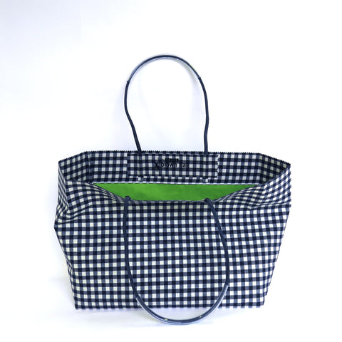 Pattern Wax Cotton - Marche - Navy Check