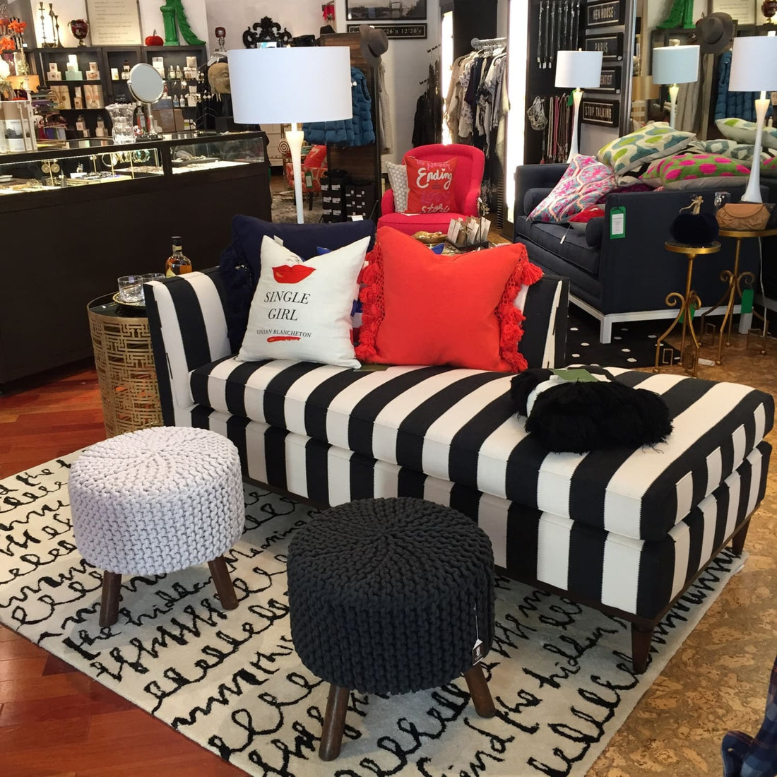 Serving up Stripes - custom Kate Spade furniture