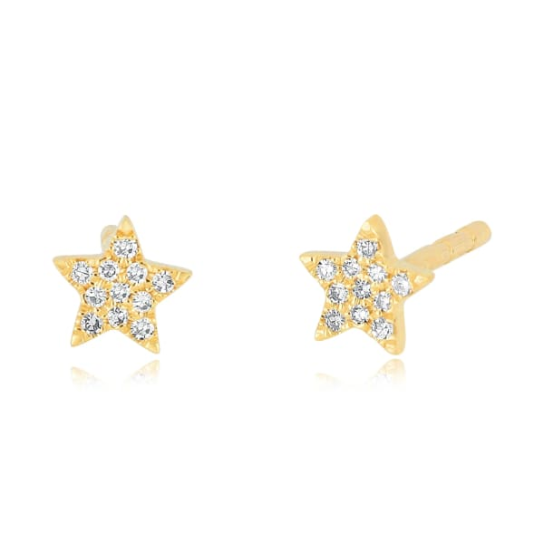 baby diamond star stud earring - Jewelry