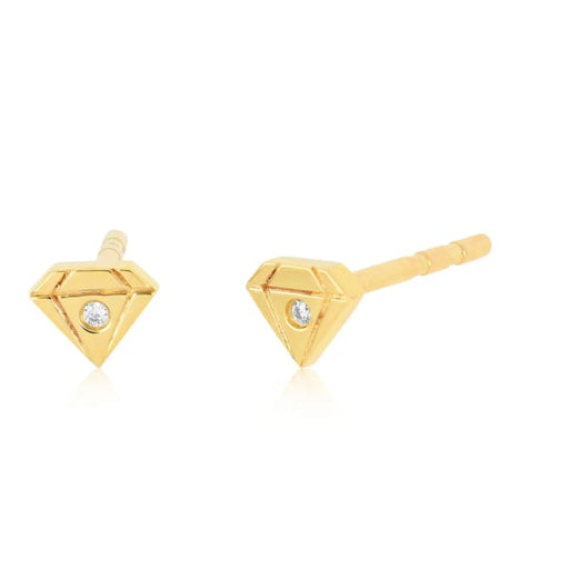 baby gem stud earring - Jewelry