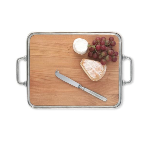 cheese tray w handles cherry wood 1131.1 - Home & Gift
