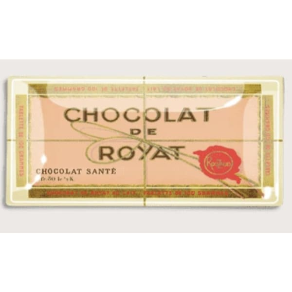 Chocolat de Royat French Chocolate Bar Decoupage Glass Tray - Home & Gift
