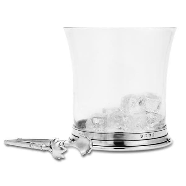 crystal ice bucket with tongs 1285.5 - Home & Gift