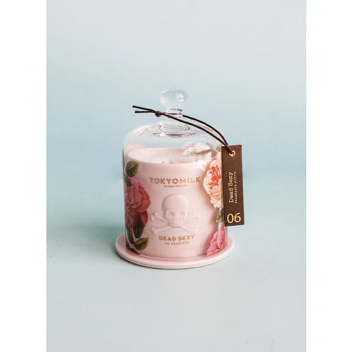 dead sexy fearless pink ceramic candle with cloche - Home & Gift