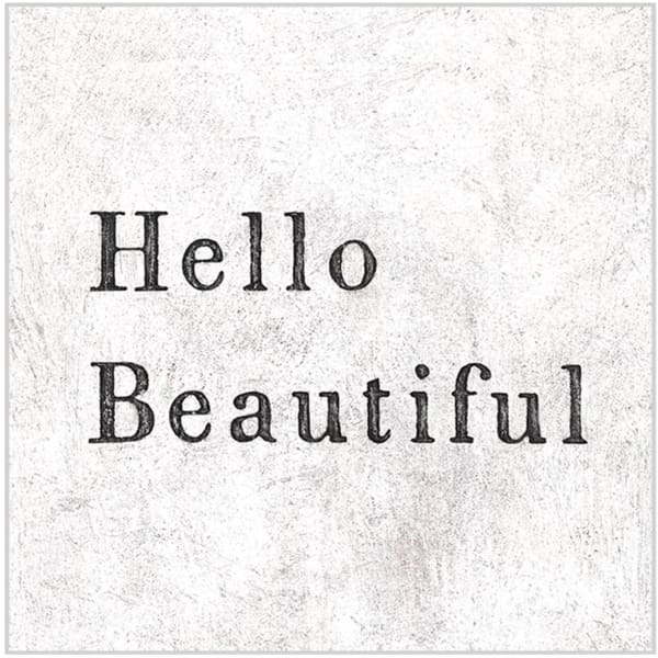 hello beautiful 12x12 art - Home & Gift
