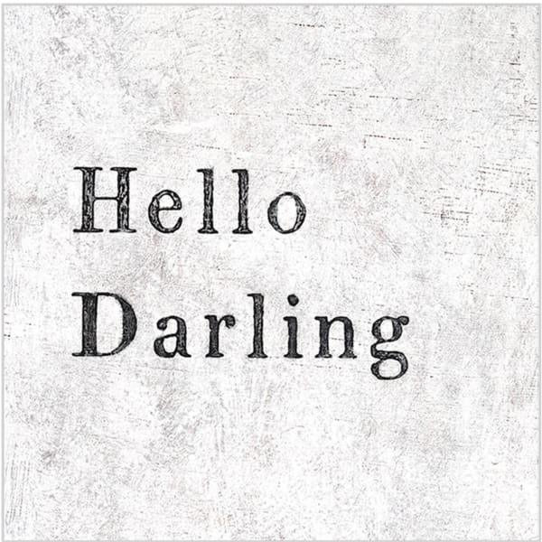 hello darling 12x12 art - Home & Gift