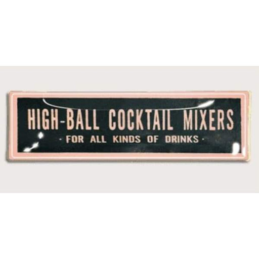 High Ball Cocktail Mixers 3.5x 12 Pink Decoupage Glass Tray - Home & Gift