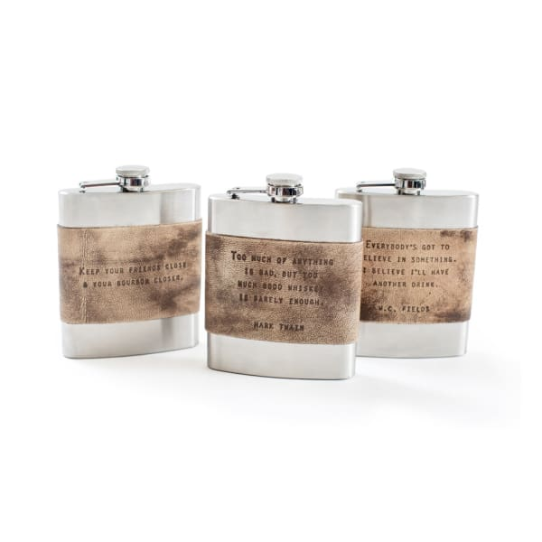 leather & metal flask - Home & Gift