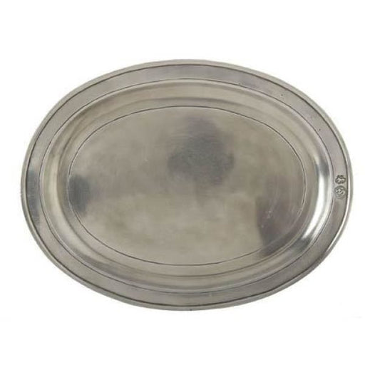 oval incised tray large 847.0 - Home & Gift