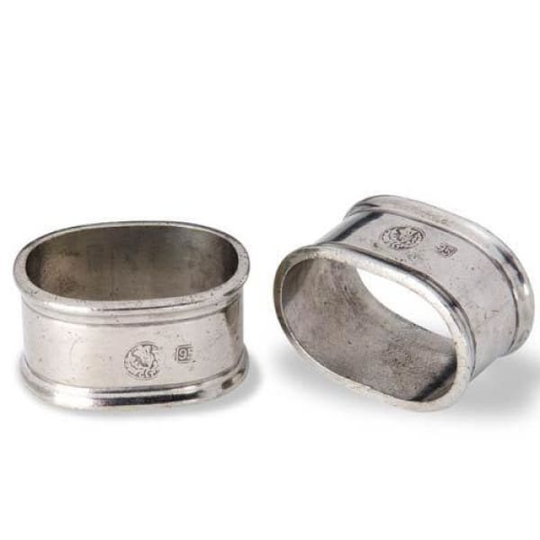 oval napkin ring pair 426.1 - Home & Gift
