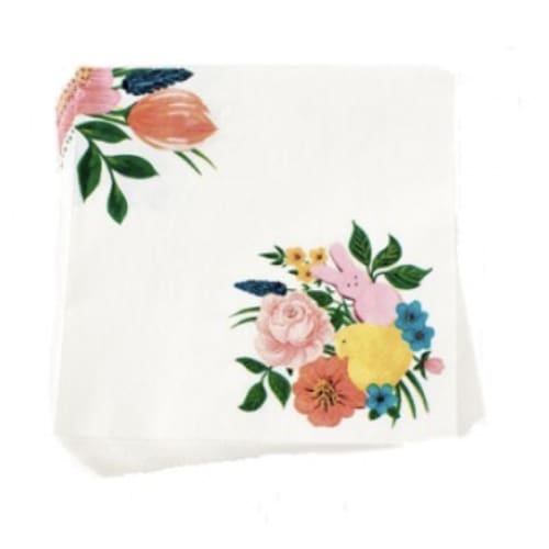peep bunny floral dinner napkin - Home & Gift