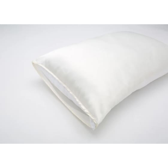 silked anti-aging open ended silk pillow - cream - Clothing & Accessories