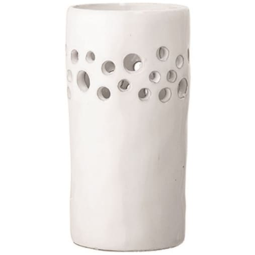 white stoneware tealight - Home & Gift