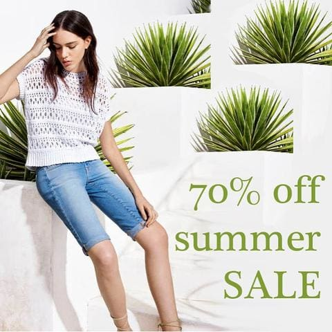 lusso 70% off summer sale