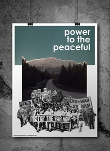 Statement poster: Power To The Peaceful