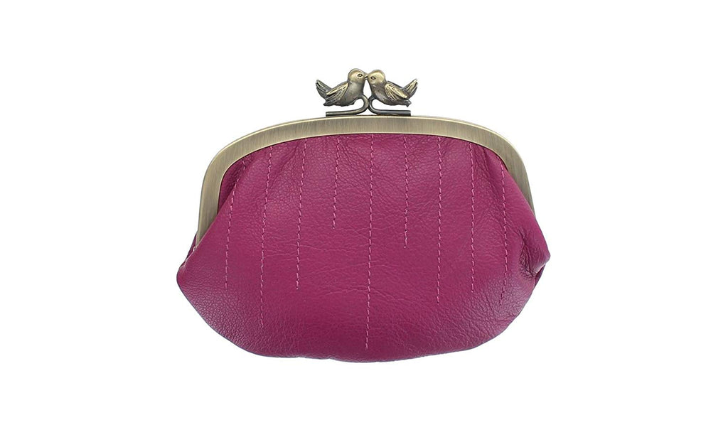 Mala Leather Coin Purse With Bird Clip Fastener 4138/_11