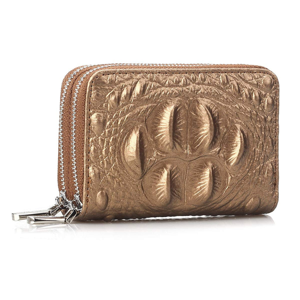 Ladies Real Leather Credit Card Holder Wallet 10 Card Slots Id Oyster Women Gift