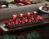 Berry Merry Candle Display with Ornaments
