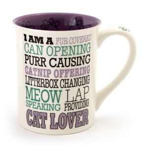 Cat Lover Typography Mug