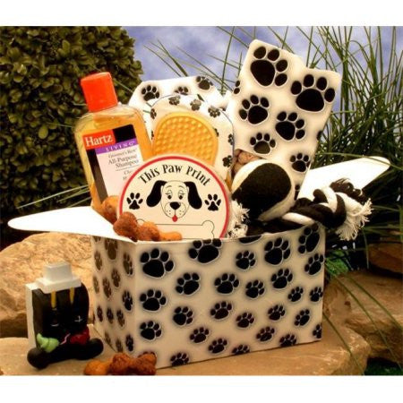 Paw Prints Doggie Care Package White/Black