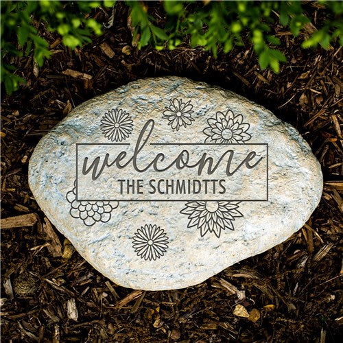 Engraved Welcome Garden Stone- Small