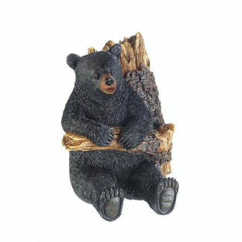 Bear in a Tree Wall Decor and Hooks