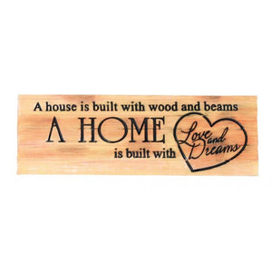 House & Home Decorative Sign
