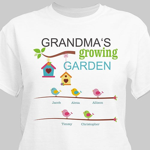 Personalized Spring Garden T-shirt for Her (M)