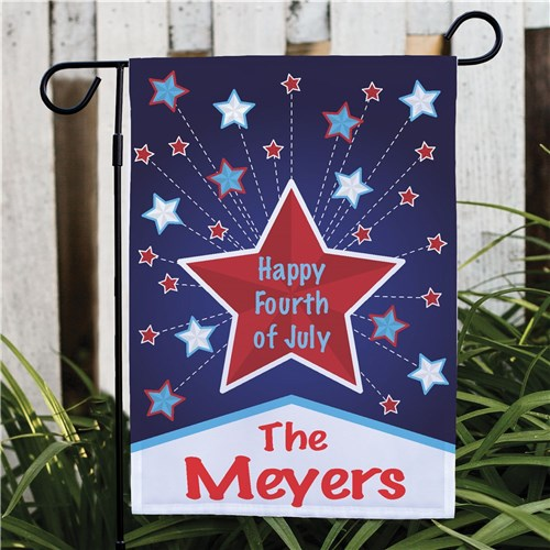 Personalized Happy 4th Garden Flag