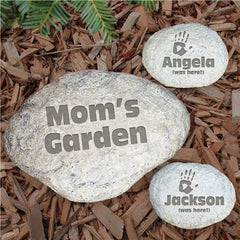 Engraved My Garden Yard Stone-Small