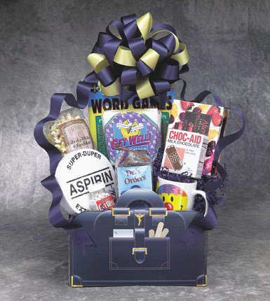 Doctors Orders Get Well Gift Box - Large Navy Blue