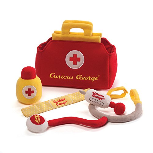 Gund Curious George Doctor Kit Playset