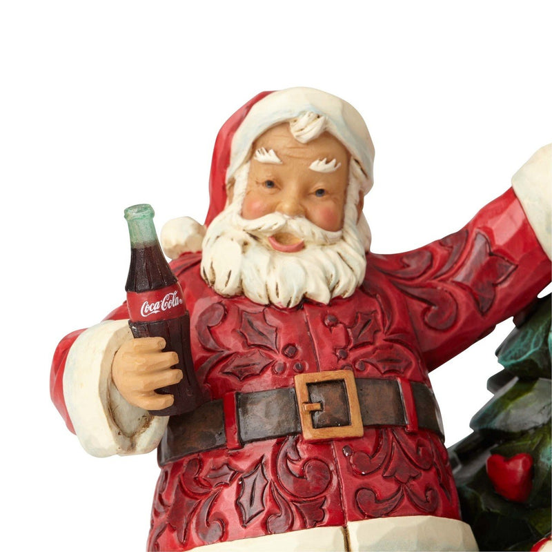 Coca-Cola Santa with Tree