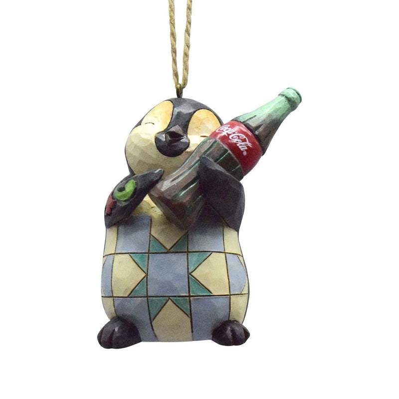 Penguin with Coke Bottle Ornament