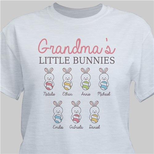 Personalized Grandma's Little Bunnies T-Shirt (L)