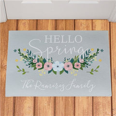 Personalized Hello Spring Doormat 18''x 24''