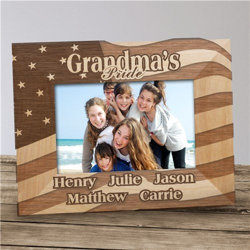 American Flag Wood Frame