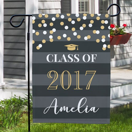 Personalized Graduation Garden Flag - One Sided