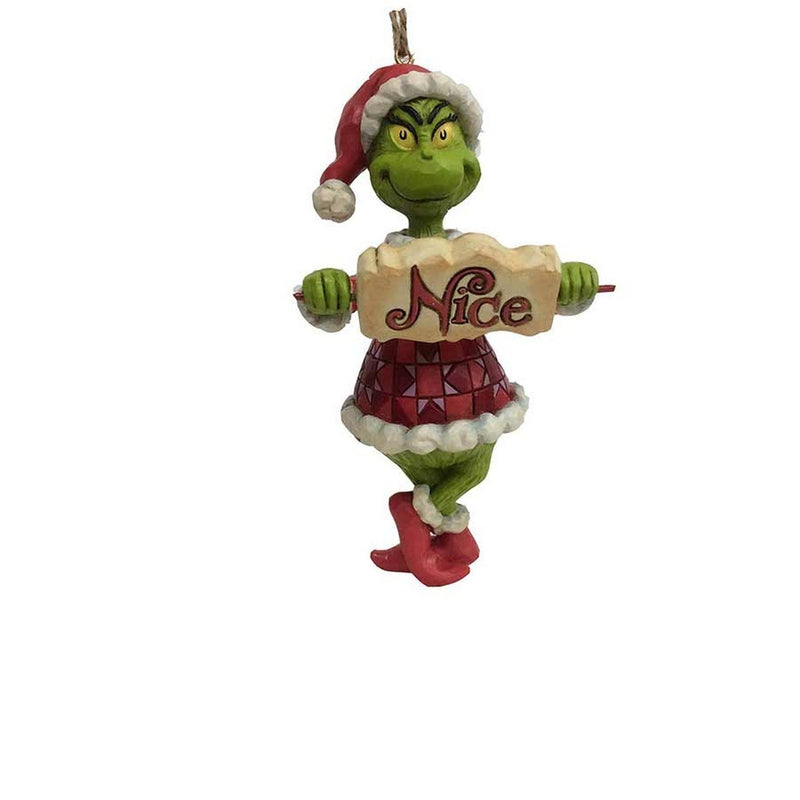 Grinch with Naughty/Nice Sign
