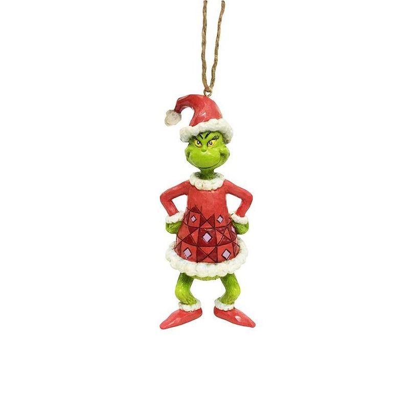 Grinch Dressed As Santa Ornament