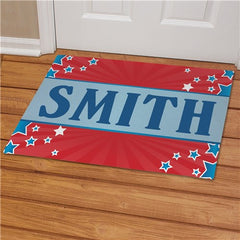 Personalized July 4th Welcome Doormat
