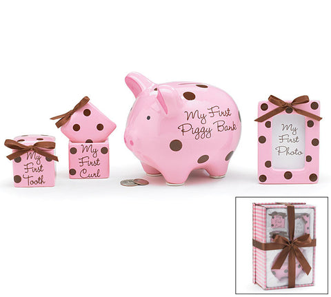 Baby Girl Keepsake Gift Set Pink