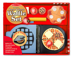 Wooden Press & Serve Waffle Set