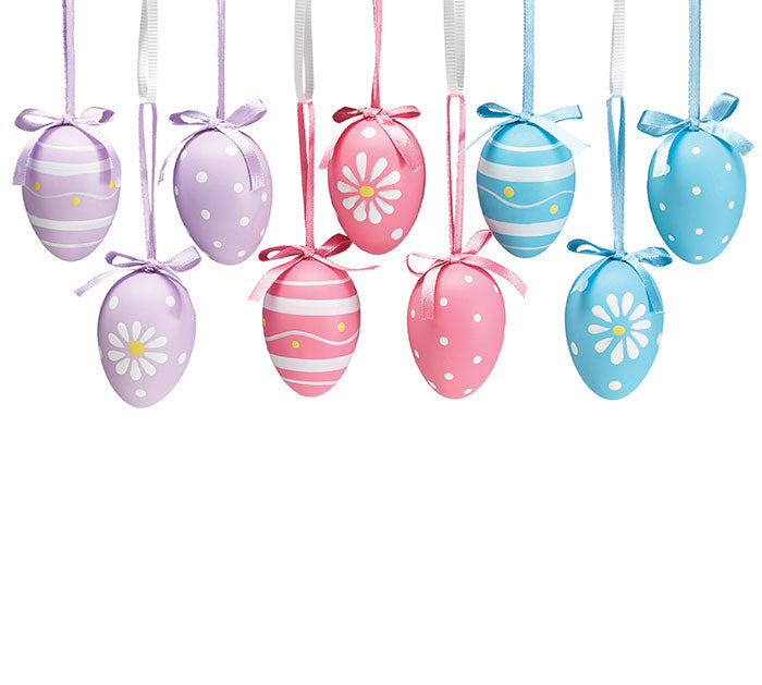Spring Colors Easter Egg Ornament W/Crate
