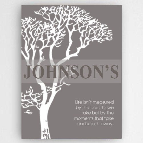 Personalized Inspirational Canvas Sign