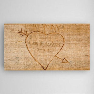 Personalized Cupid's Arrow Canvas Sign
