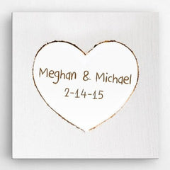 Personalized Romance Love Canvas Sign