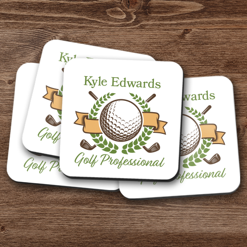 Golf Professional Personalized Coaster Set