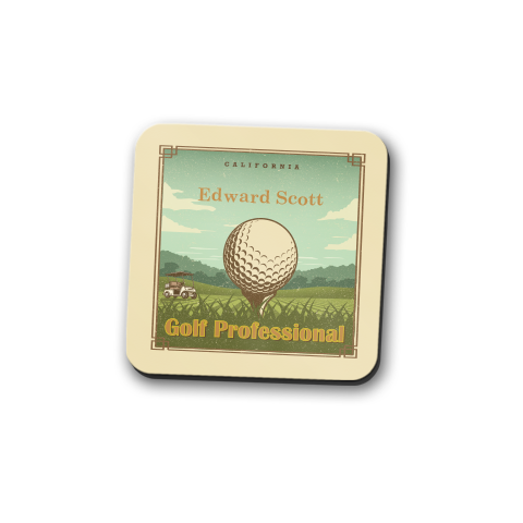 Golfer's Guide Personalized Coaster Set
