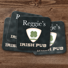 Irish Pub Escutcheon Personalized Coaster Set